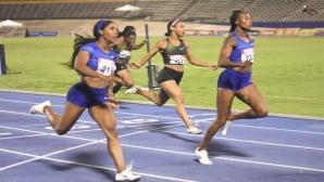 Томпсън и Фрейзър-Прайс с по 10.73 секунди на първенството на Ямайка
