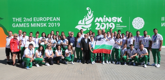 Стефка Костадинова поздрави и окуражи българските спортисти в Минск