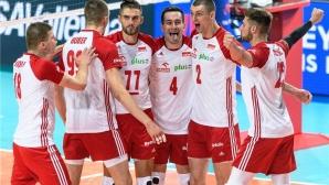 Полша на полуфинал в Лигата на нациите след обрат срещу Иран (видео + снимки)