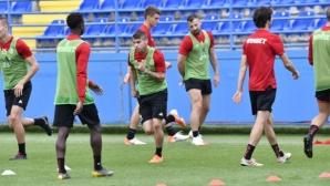 ЦСКА-София с официална тренировка в Подгорица