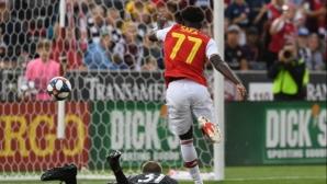 Арсенал вкара три на американци в първата си контрола (видео)