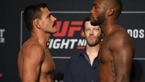 Рафаел Дос Аньос и Лион Едуардс с еднакво тегло преди UFC Fight Night в Сан Антонио (видео + снимки)