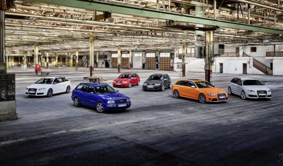 Audi Sport празнува 25 години от пускането на първия Audi RS модел