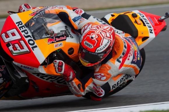 Маркес с геройски полпозишън в MotoGP под дъжда в Чехия
