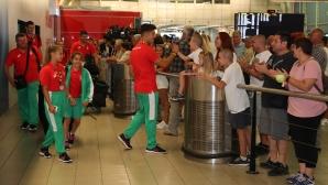Емоционално посрещане на българските медалисти от олимпийския фестивал в Баку