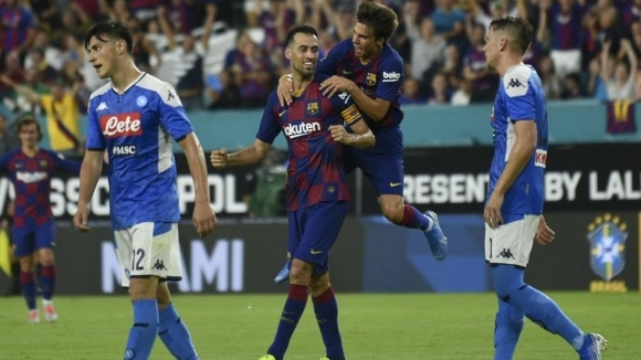 Барселона спечели първия американски сблъсък с Наполи (видео)
