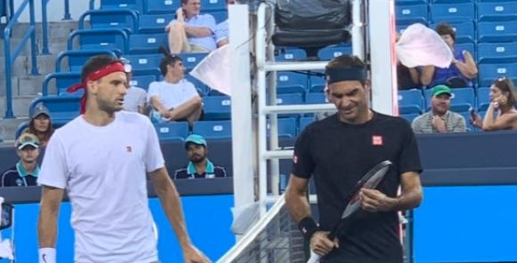 Григор тренира с Федерер в Синсинати, ще играе на двойки с Фонини