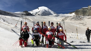 Алпийците тренират с настроение на Саас-Фе