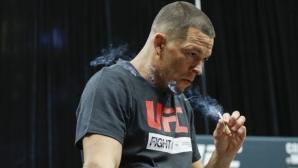 Нейт Диас пуши канабис на откритата си тренировка (видео)