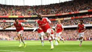 Арсенал 2:1 Бърнли, Обамеянг отново изведе домакините напред (гледайте тук)