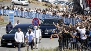 Вярност и отвъд смъртта: стотици изпратиха знаков ултрас на Лацио