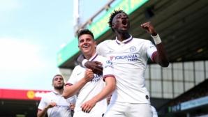 Младите надежди на Челси донесоха първа победа на Лампард в Премиър лийг (видео)