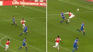 """18-годишен талант на Арсенал вкара фантастичен гол на """"Емиратс"""" (видео)"""