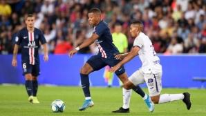 ПСЖ сломи Тулуза за едно полувреме, но Мбапе и Кавани помрачиха радостта от победата
