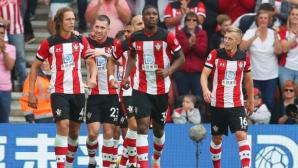 """Десетима """"светци"""" устояха на """"червените дяволи"""", трети пореден мач без победа за Юнайтед (видео)"""