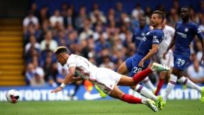 """Челси отново не успя да зарадва феновете на """"Стамфорд Бридж"""" с победа"""