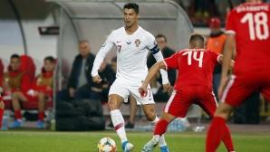 Роналдо с три пъти повече голове от целия отбор на Португалия