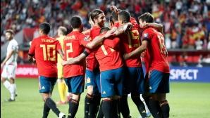Испанците се разходиха срещу слабак и скоро ще се класират