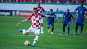 Хърватия изпусна победата като гост на Азербайджан (видео)