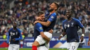 Франция с лесна победа над аутсайдера, Гризман отново пропусна дузпа (видео)