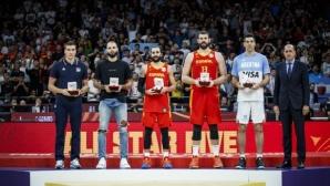 Гасол и Рубио оглавиха идеалната петица на Световното