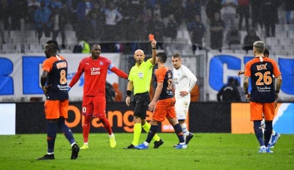 Марсилия и Монпелие не се победиха в мач с три червени картона