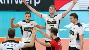 Германия дочака своята първа победа! Гроцер - либеро (снимки)