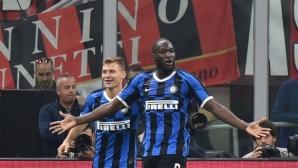 """Милано отново е """"черно-син"""", и """"росонерите"""" не спряха победния ход на Интер (видео+галерия)"""