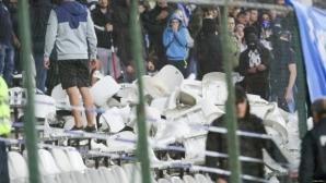 """Стана ясно колко са счупените седалки в сектор """"В"""" на стадион """"Славия"""""""