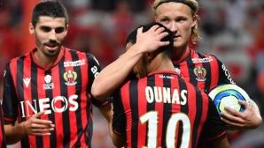 Монако продължава да търси първа победа, Ница се изравни с ПСЖ