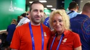 Гроздева и Донков завършиха четвърти на пистолет за смесени отбори