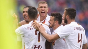 Джеко герой за Рома с гол в 94-ата минута