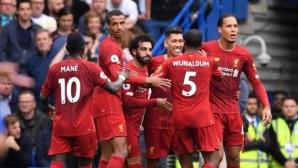 """Ливърпул имаше тежки мигове на """"Стамфорд Бридж"""", но отново огорчи Челси и остава перфектен в Премиър лийг (видео)"""