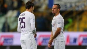 Фиорентина изпусна победата срещу Аталанта, Рибери с първи гол