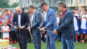 Борислав Михайлов откри нов футболен комплекс в столицата