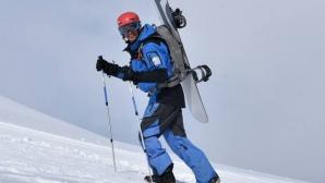 За пъpви път българин се спусна със сноуборд от 8-хилядник