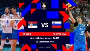 Финалът на Евроволей 2019: Сърбия - Словения на живо по БНТ 3! Гледайте ТУК!!!