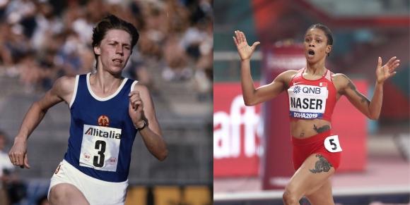 Бягането на Насер срещу това на световната рекордьорка Марита Кох