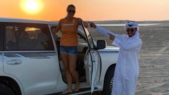 И Схипърс на сафари в Доха
