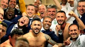 Футболистите на Лудогорец подивяха в съблекалнята (снимка)