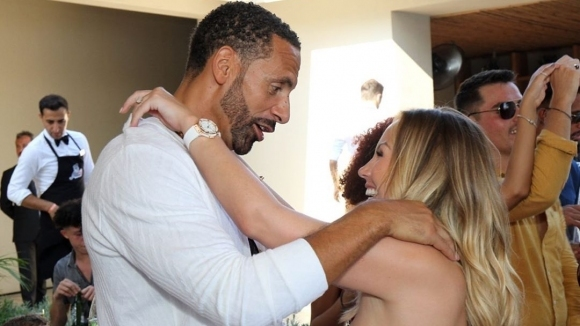 Рио Фърдинанд и риалити звезда показаха нови моменти от сватбата си (видео+снимки)