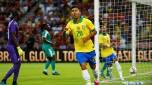 Фирмино с елегантен гол в мач №100 на Неймар за Бразилия (видео)