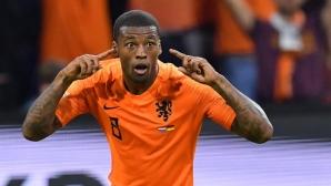 Холандия продължава по план гонитбата с Германия след два гола на Вайналдум