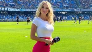 Спортна журналистка продължава да пръска сексапил (снимка)