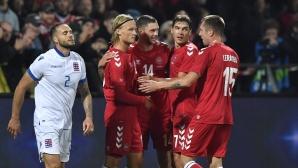 Дания разгроми Люксембург в контрола (видео)