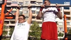 Несломим дух: Момчето с Даун, което тренира стрийт фитнес