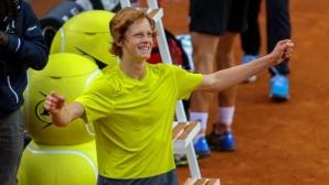 Изгряващата звезда Синер се класира на полуфинал в Антверп