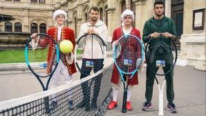 Григор и Беретини играха тенис пред операта във Виена