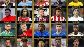 Ето ги претендентите за най-добър млад футболист в света