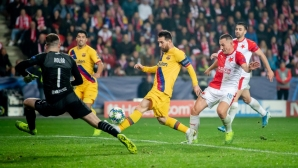 Барселона се измъкна срещу Славия в Прага (видео + галерия)
